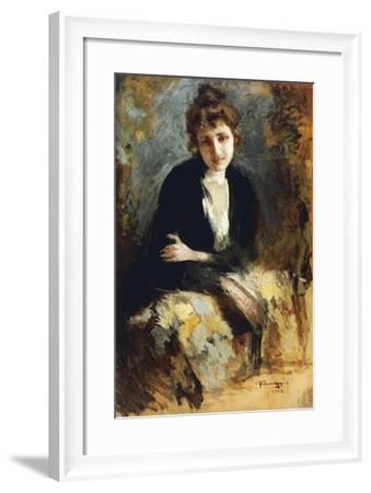 Portrait of Lady-Federico Quarenghi-Framed Giclee Print