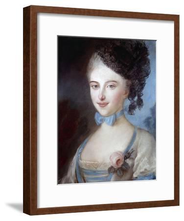 Portrait of Laure Surville - by Carrier-Belleuse--Framed Giclee Print