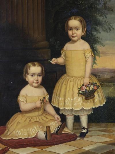 Portrait of Lavinia and Ella Simpson, c.1854-Lavinia Scholes Simpson-Giclee Print
