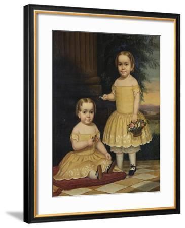 Portrait of Lavinia and Ella Simpson, c.1854-Lavinia Scholes Simpson-Framed Giclee Print