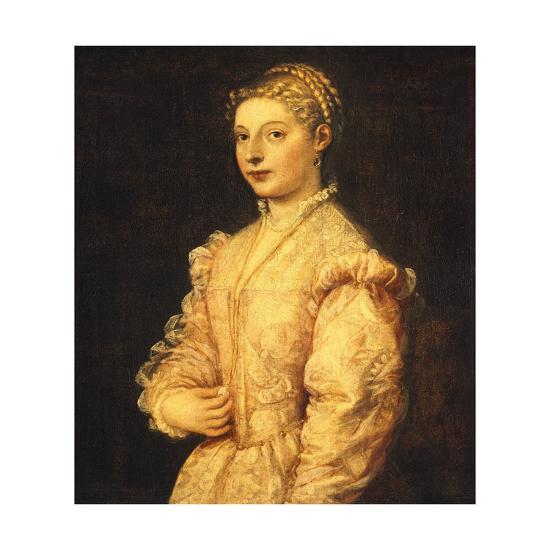 Portrait of Lavinia Vecellio or Young Woman-Titian (Tiziano Vecelli)-Giclee Print