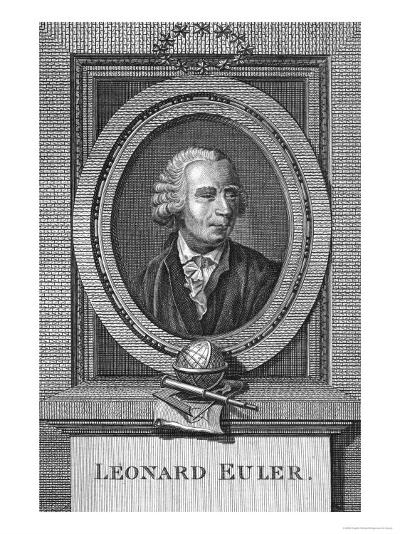 Portrait of Leonard Euler--Giclee Print