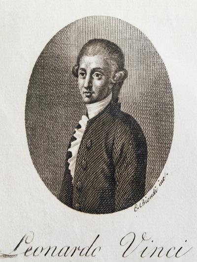 Portrait of Leonardo Vinci--Giclee Print