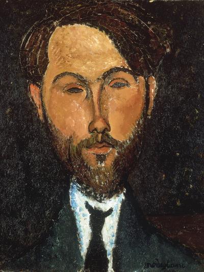 Portrait of Leopold Zborowski, 1917-Amedeo Modigliani-Giclee Print