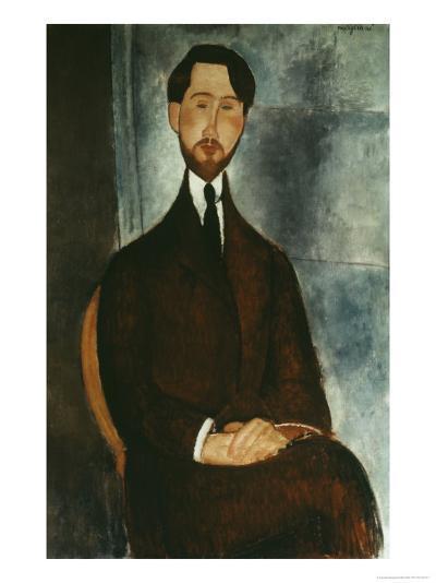 Portrait of Leopold Zborowski-Amedeo Modigliani-Giclee Print
