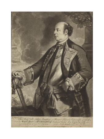Portrait of Lieutenant General John Manners-Sir Joshua Reynolds-Giclee Print