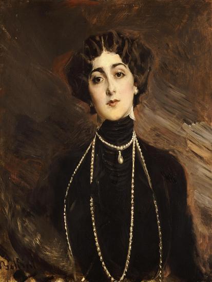 Portrait of Lina Cavalieri, circa 1901-Giovanni Boldini-Giclee Print