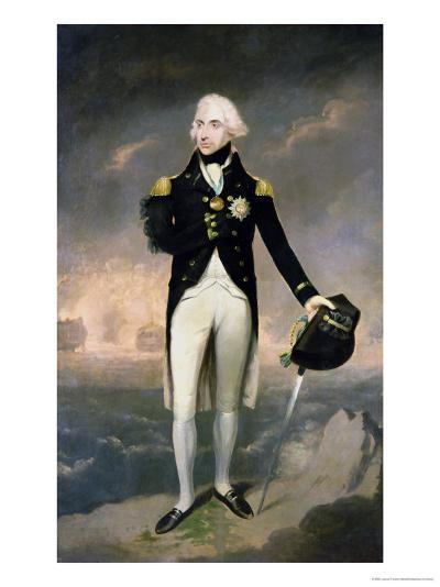 Portrait of Lord Nelson with Santa Cruz Beyond-Lemuel Francis Abbott-Giclee Print