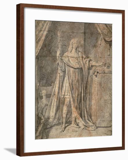 Portrait of Louis Xiii, C.1644-Philippe De Champaigne-Framed Giclee Print
