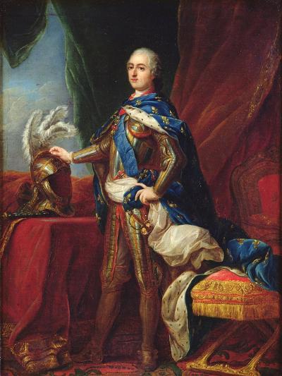 Portrait of Louis XV in Armour-Carle van Loo-Giclee Print