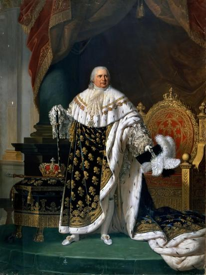 Portrait of Louis XVIII (1755-182) in Coronation Robes-Robert Lefévre-Giclee Print