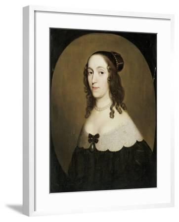 Portrait of Louise Christina-Gerard Van Honthorst-Framed Art Print