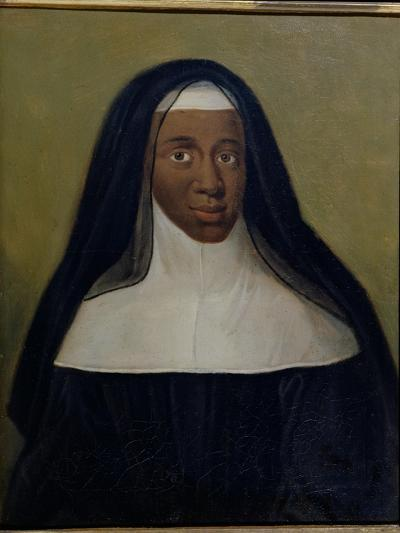 Portrait of Louise-Marie-Therese the Black Nun of Moret--Giclee Print