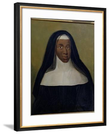 Portrait of Louise-Marie-Therese the Black Nun of Moret--Framed Giclee Print