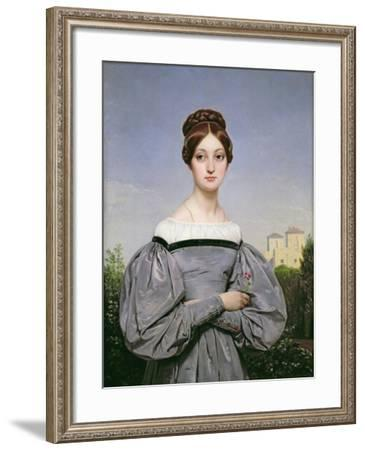 Portrait of Louise Vernet-Horace Vernet-Framed Giclee Print