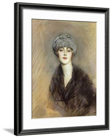 Portrait of Lucette-Paul Cesar Helleu-Framed Giclee Print