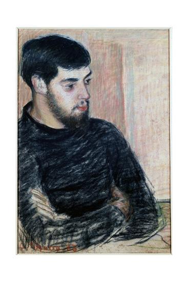 Portrait of Lucien Pissarro (1863-1944), 1883 (Pastel)-Camille Pissarro-Giclee Print