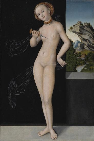 Portrait of Lucretia, 1528-Lucas, The Elder Cranach-Giclee Print