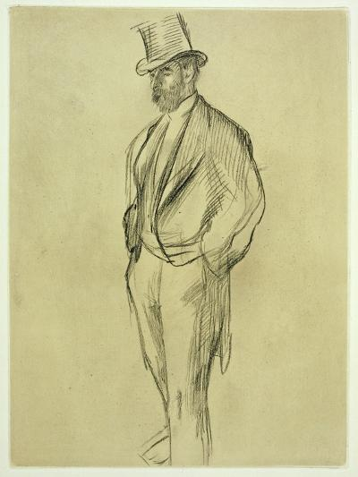 Portrait of Ludovic Halevy (1834-1908), from 'La Famille Cardinal' by Ludovic Halevy, C.1880S-Edgar Degas-Giclee Print