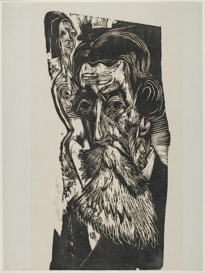 Portrait of Ludwig Schames, 1917-1918-Ernst Ludwig Kirchner-Giclee Print