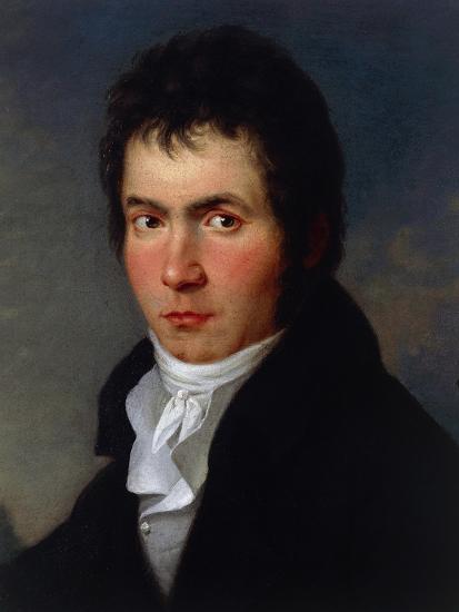 Portrait of Ludwig Van Beethoven--Giclee Print