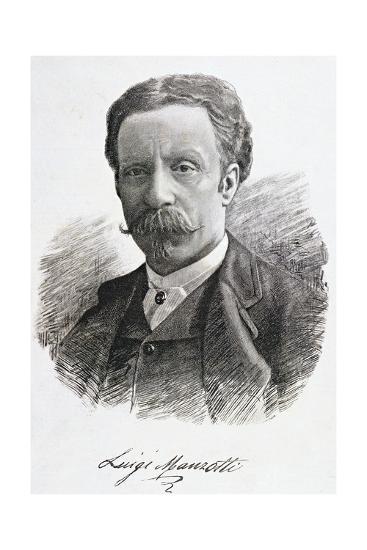 Portrait of Luigi Manzotti--Giclee Print