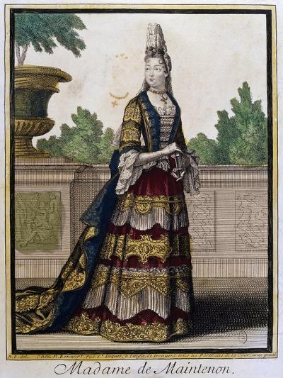 Portrait of Madame De Maintenon, Born Francoise D'Aubigne--Giclee Print