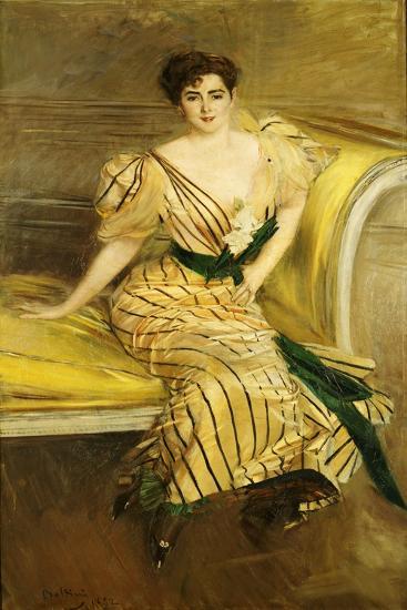 Portrait of Madame Josephina Alvear De Errazuriz, 1892-Giovanni Boldini-Giclee Print