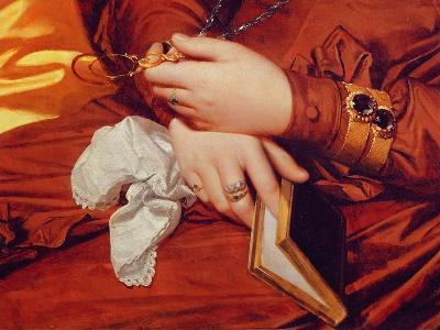 Portrait of Madame Marcotte, Detail of Her Hands, 1826 (Detail)-Jean-Auguste-Dominique Ingres-Giclee Print
