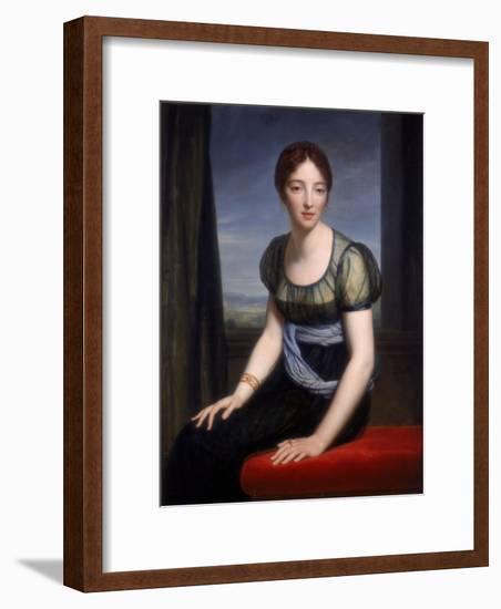 Portrait of Madame Regnault De Saint-Jean D'Angely, 1798-Francois Pascal Simon Gerard-Framed Giclee Print