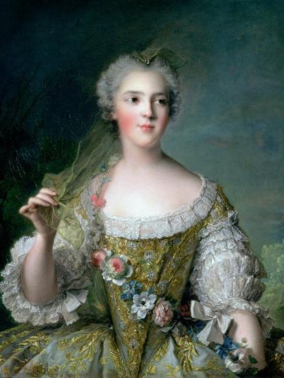 Portrait of Madame Sophie (1734-82), Daughter of Louis XV, at Fontevrault, 1748-Jean-Marc Nattier-Giclee Print