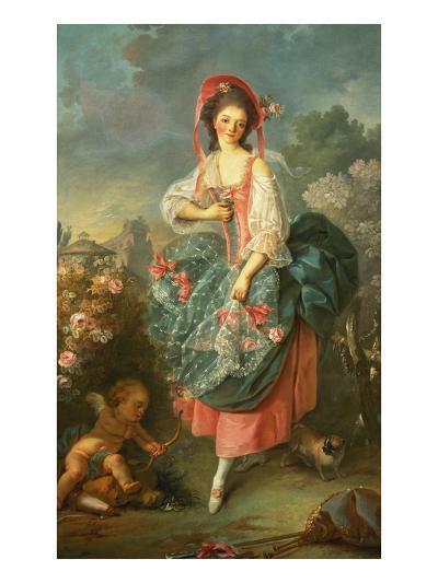 Portrait of Mademoiselle Guimard as Terpsichore-Jacques-Louis David-Giclee Print