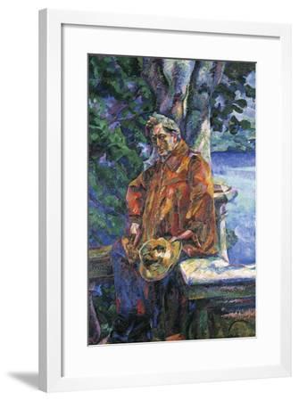 Portrait of Maestro Ferruccio Busoni by Umberto Boccioni--Framed Giclee Print