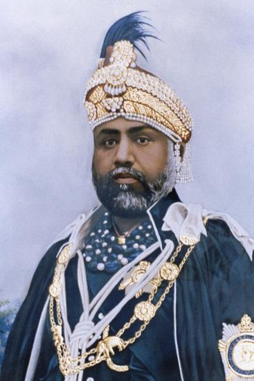 Portrait of Maharajah Sawai Madho Singh II of Jaipur--Photographic Print