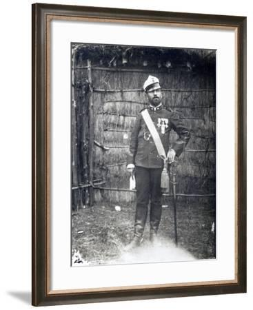 Portrait of Major Pietro Toselli, 1888, Eritrea, Italian Colonialism in East Africa--Framed Giclee Print