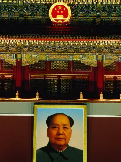 Portrait of Mao Zedong Above Gate of Heavenly Peace Bejing, China-Phil Weymouth-Photographic Print