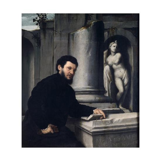 Portrait of Marco Antonio Savelli, 1543-1547-Giovanni Battista Moroni-Giclee Print