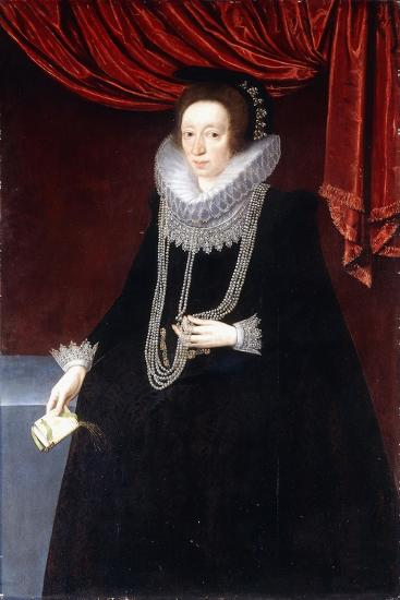 Portrait of Margaret Belasyse-Marcus the Younger Gheeraerts-Giclee Print