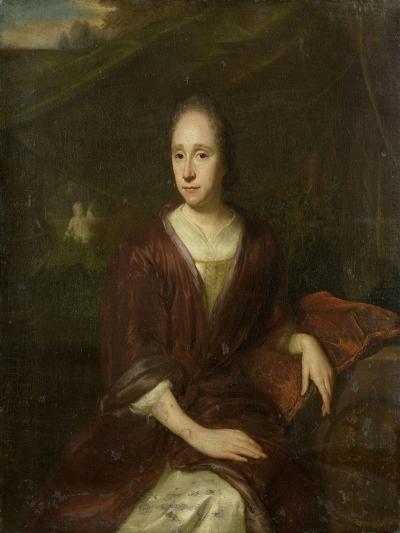 Portrait of Margaretha Nelis, Second Wife of Casparus Commelin-David van der Plas-Art Print