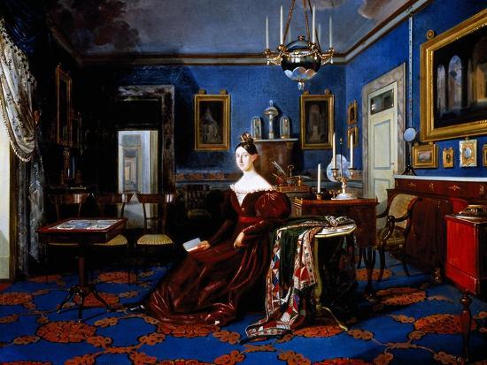 Portrait of Maria Cristina of Savoy in Palace of Caserta--Giclee Print
