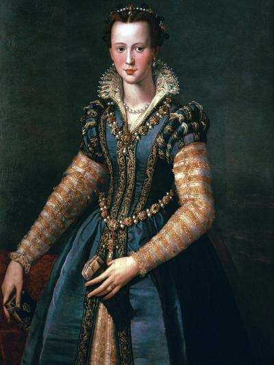 Portrait of Maria De Medici, 16th Century-Alessandro Allori-Giclee Print