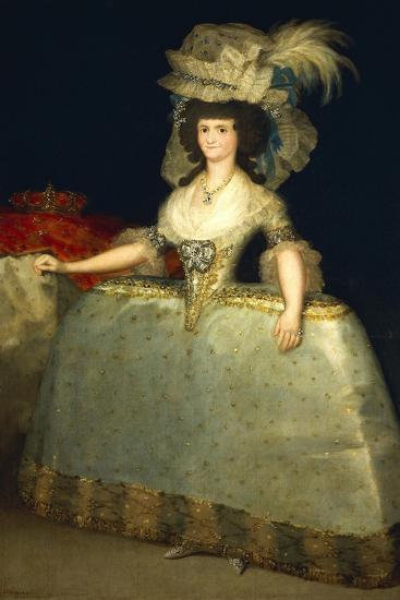 Portrait of Maria Luisa of Parma--Giclee Print