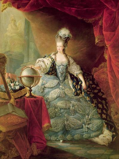 Portrait of Marie Antoinette Queen of France-Jacques Fabien Gautier d'Agoty-Giclee Print