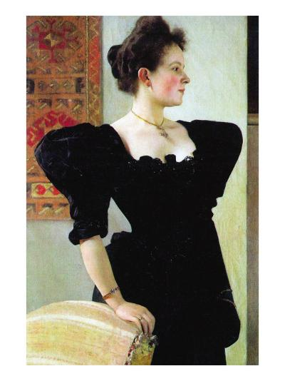 Portrait of Marie Breunig-Gustav Klimt-Art Print