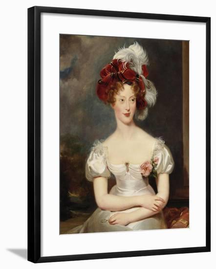 Portrait of Marie-Caroline, Duchesse de Berry, c.1825-Thomas Lawrence-Framed Giclee Print