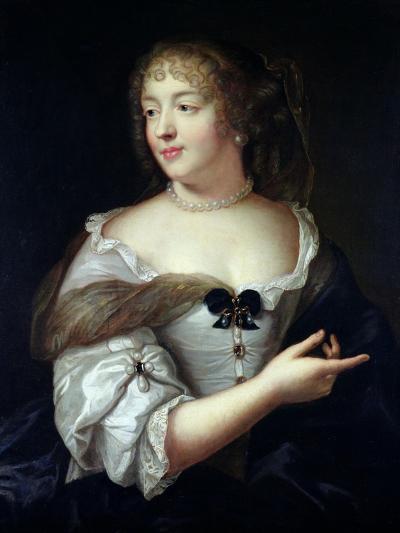 Portrait of Marie De Rabutin-Chantal, Madame De Sevigne (1626-96)-Claude Lefebvre-Giclee Print
