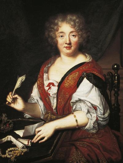 Portrait of Marie De Rabutin-Chantal, Marquise of Sevigne--Giclee Print