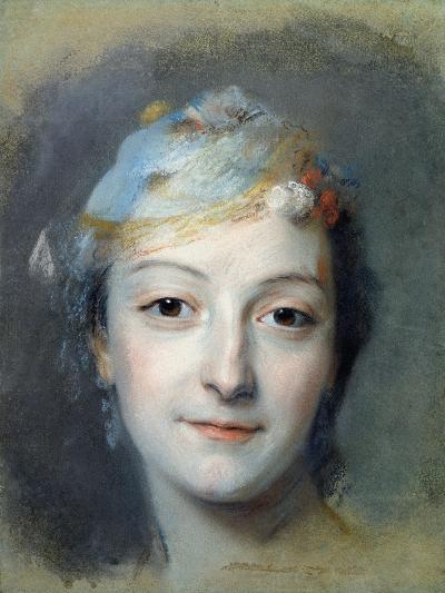 Portrait of Marie Fel 1757-Maurice Quentin de La Tour-Giclee Print