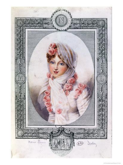 Portrait of Marie Laczinska Countess Walewska-Jean-Baptiste Isabey-Giclee Print