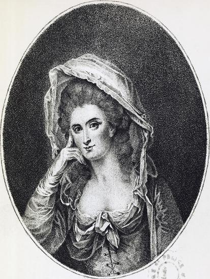 Portrait of Marie Lejay, known as Mademoiselle D'Oliva, 1785--Giclee Print